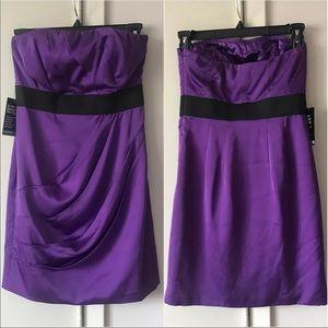 Purple Strapless Express dress size 0 / XS
